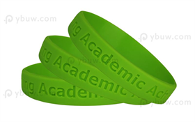 Lime Green Debossed Wrist Bands